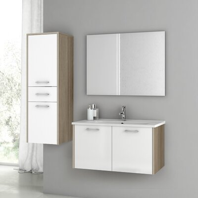 Nico 34 Single Bathroom Vanity Set with Mirror