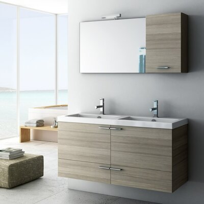 New Space 47 Bathroom Vanity Set Base Finish: Wenge