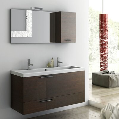 New Space 47 Bathroom Vanity Set Base Finish: Glossy White