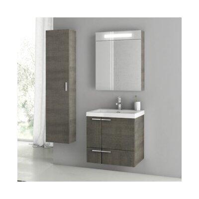 New Space 24 Single Bathroom Vanity Set Base Finish: Gray Oak