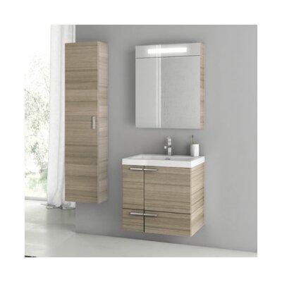 New Space 24 Single Bathroom Vanity Set Base Finish: Larch Canapa
