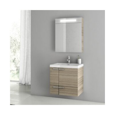 New Space 24 Single Bathroom Vanity Set Base Finish: Larch Canapa