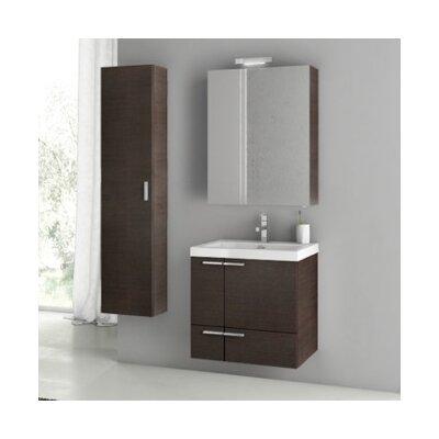 New Space 24 Single Bathroom Vanity Set Base Finish: Wenge