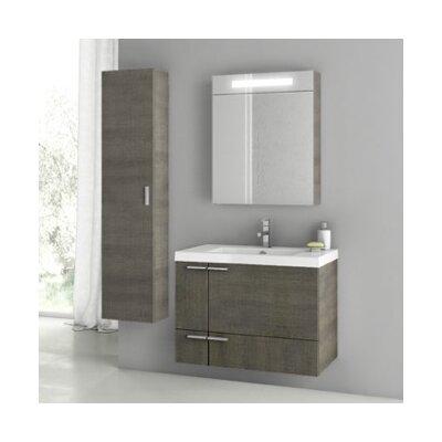 New Space 32 Single Bathroom Vanity Set Base Finish: Gray Oak