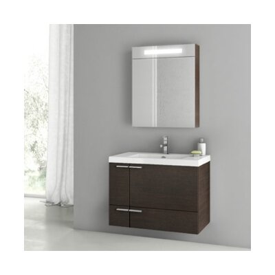 New Space 32 Single Bathroom Vanity Set Base Finish: Wenge
