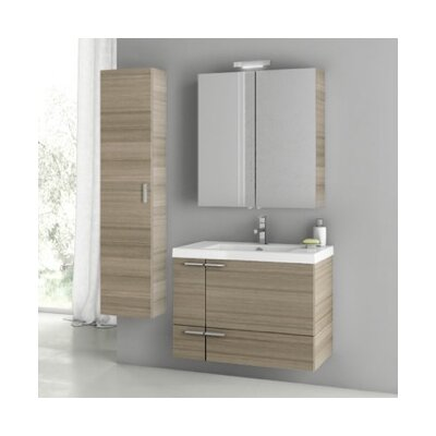 New Space 32 Single Bathroom Vanity Set Base Finish: Larch Canapa
