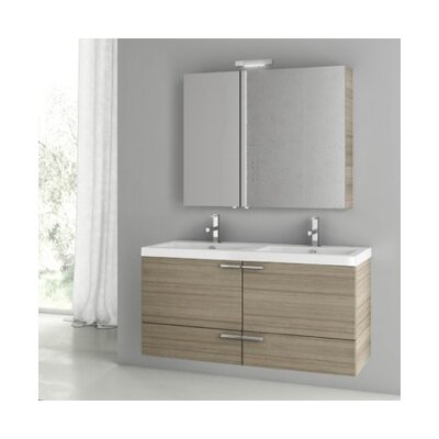 New Space 47 Double Bathroom Vanity Set Base Finish: Larch Canapa