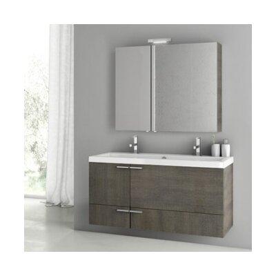 New Space 47 Double Bathroom Vanity Set Base Finish: Gray Oak