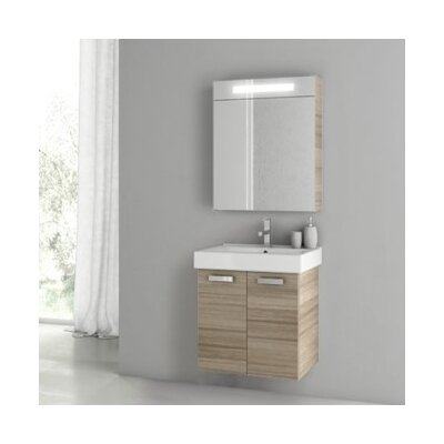 Cubical 2 24 Single Bathroom Vanity Set Base Finish: Larch Canapa