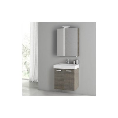 Cubical 2 24 Single Bathroom Vanity Set Base Finish: Gray Oak