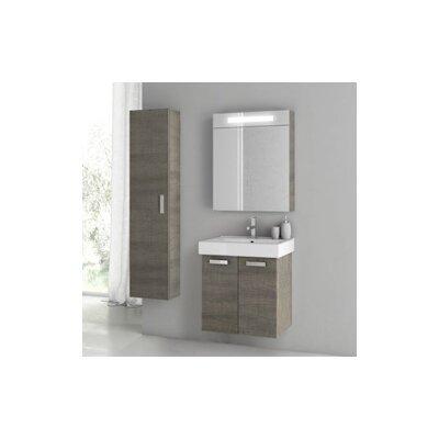 Cubical 2 24 Single Bathroom Vanity Set Base Finish: Gray Oak