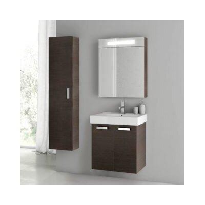 Cubical 2 24 Single Bathroom Vanity Set Base Finish: Wenge