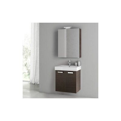 Cubical 2 24 Single Bathroom Vanity Set Base Finish: Wenge