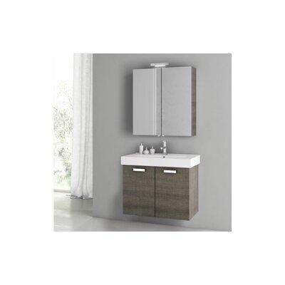 Cubical 2 30 Single Bathroom Vanity Set Base Finish: Gray Oak