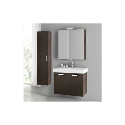 Cubical 2 30 Single Bathroom Vanity Set Base Finish: Wenge