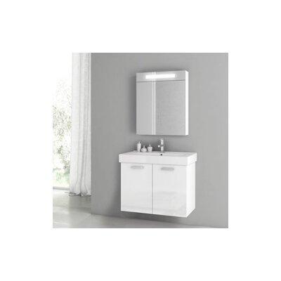 Cubical 2 30 Single Bathroom Vanity Set Base Finish: Glossy White