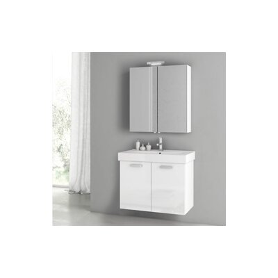 Cubical 2 30 Single Bathroom Vanity Set Base Finish: Glossy White