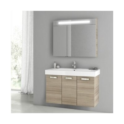 Cubical 2 41 Single Bathroom Vanity Set Base Finish: Larch Canapa