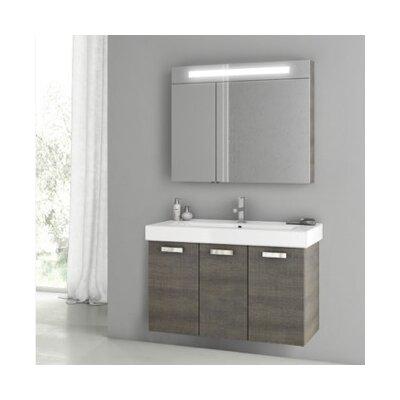 Cubical 2 41 Single Bathroom Vanity Set Base Finish: Gray Oak