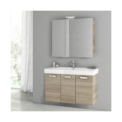 Cubical 2 41 Single Bathroom Vanity Set Base Finish: Larch Canapa