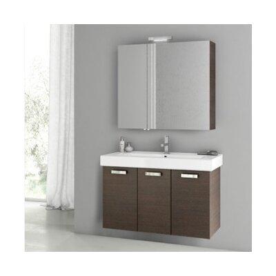 Cubical 2 41 Single Bathroom Vanity Set Base Finish: Wenge