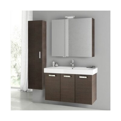 Cubical 2 41 Single Bathroom Vanity Set Base Finish: Wenge