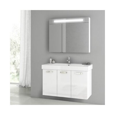 Cubical 2 41 Single Bathroom Vanity Set Base Finish: Glossy White