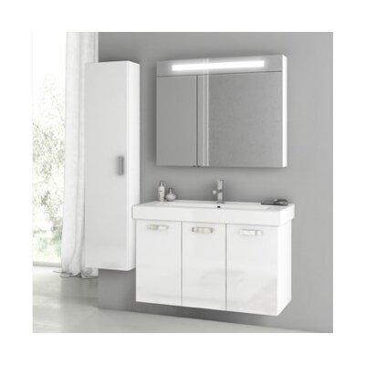 Cubical 2 41 Single Bathroom Vanity Set Base Finish: Glossy White