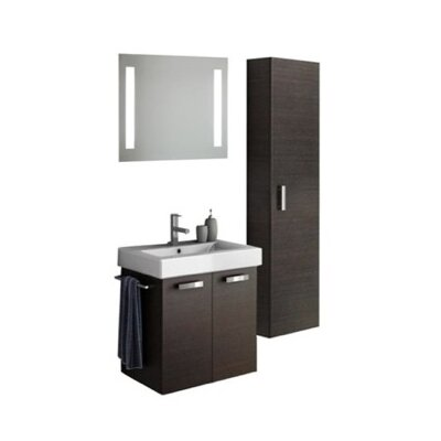 Cubical 24 Single Bathroom Vanity Set with Mirror Base Finish: Glossy White