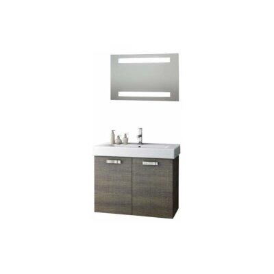 Cubical 30 Single Bathroom Vanity Set with Mirror Base Finish: Wenge