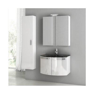 Crystal Dance 28 Single Bathroom Vanity Set Base Finish: Glossy White