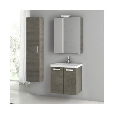 City Play 24 Single Bathroom Vanity Set Base Finish: Gray Oak