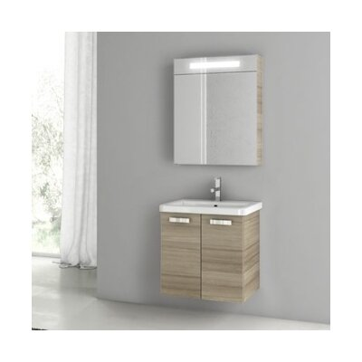 City Play 24 Single Bathroom Vanity Set Base Finish: Larch Canapa