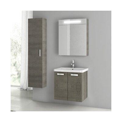 City Play 24 Single Bathroom Vanity Set Base Finish: Gray Oak