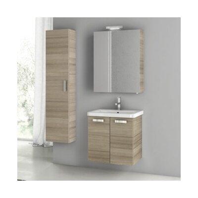 City Play 24 Single Bathroom Vanity Set Base Finish: Larch Canapa