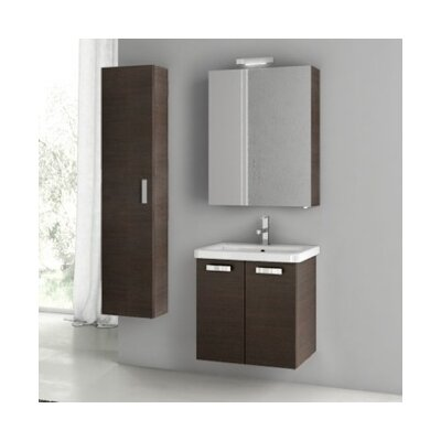 City Play 24 Single Bathroom Vanity Set Base Finish: Wenge