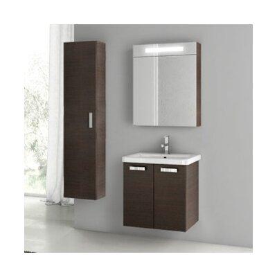 City Play 24 Single Bathroom Vanity Set Base Finish: Wenge