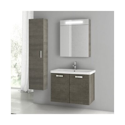 City Play 32 Single Bathroom Vanity Set Base Finish: Gray Oak