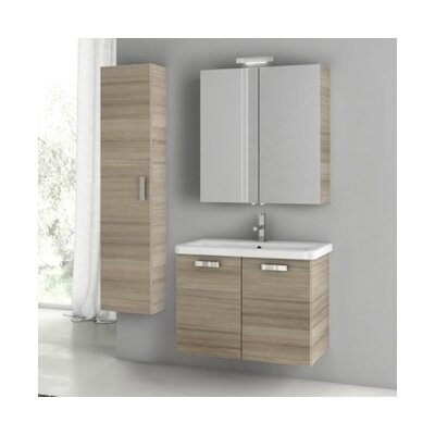 City Play 32 Single Bathroom Vanity Set Base Finish: Larch Canapa