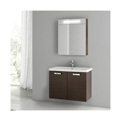 City Play 32 Single Bathroom Vanity Set Base Finish: Wenge