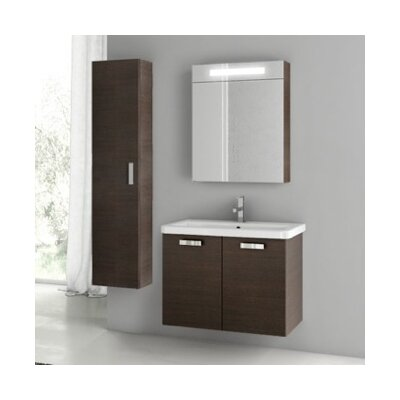 City Play 32 Single Bathroom Vanity Set Base Finish: Wenge