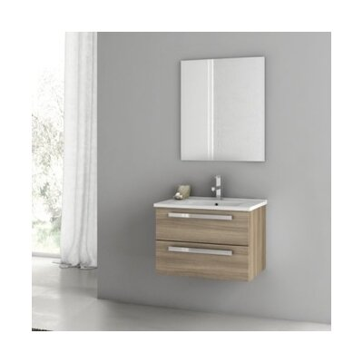 Dadila 26 Single Bathroom Vanity Set with Mirror Base Finish: Glossy White
