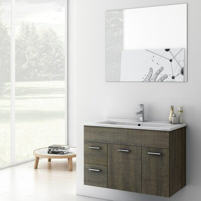 Loren Bathroom Vanity Set Base Finish: Gray Oak Senlis