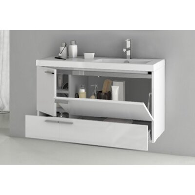 New Space Bathroom Vanity Set Base Finish: Gray Oak Senlis