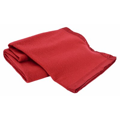 All-Natural  100% Australian Merino Wool Machine Washable Blanket Color: Red, Size: Full / Queen