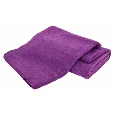 Hobart Machine Washable Australian Wool Blend Blanket Size: Twin, Color: Amethyst