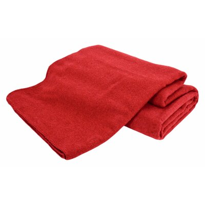 Hobart Machine Washable Australian Wool Blend Blanket Size: Full / Queen, Color: Cranberry
