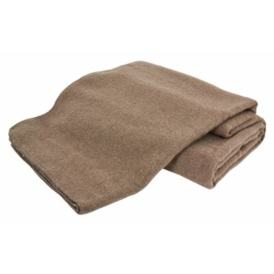 Hobart Machine Washable Australian Wool Blend Blanket Size: Twin, Color: Hazel