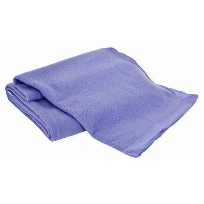 All-Natural  100% Australian Merino Wool Machine Washable Blanket Size: Twin, Color: French Blue