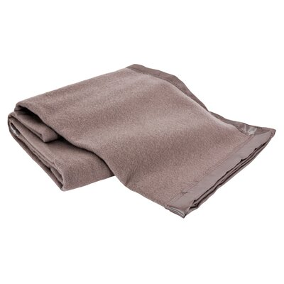 All-Natural  100% Australian Merino Wool Machine Washable Blanket Size: Twin, Color: Flax